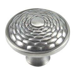 Mandalay 1-5/16 Inch Diameter Brushed Nickel Cabinet Knob