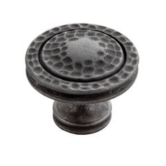 Mountain Lodge 1-3/8 Inch Diameter Black Iron Cabinet Knob
