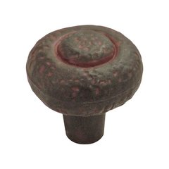 Refined Rustic 1-1/4 Inch Diameter Rustic Iron Cabinet Knob