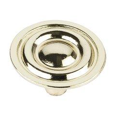 Palisade 1-5/16 Inch Diameter Polished Brass Cabinet Knob <small>(#875-PB)</small>
