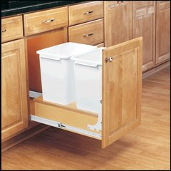 Double Trash Pullout 35 Quart -Wood