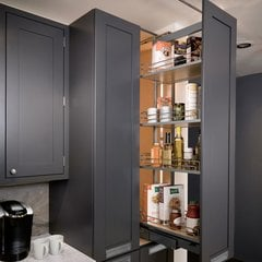 "Pantry Frame 74-7/8"" - 90-1/2"" High Silver"