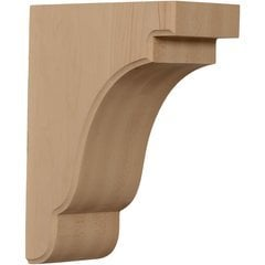 "Bedford 3.5""W x 7.25""D x 9.5""H Countertop Bracket - Rubberwood"