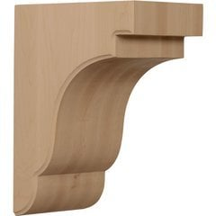 "Bedford 5.25""W x 8.5""D x 11""H Countertop Bracket - Rubberwood"