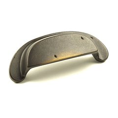 Whistler 3-1/2 Inch Center to Center Aged Bronze Cabinet Cup Pull