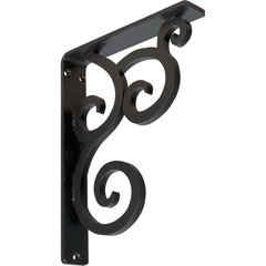 "Medway 1.5""W x 7.5""D x 10""H Countertop Bracket - Iron/Steel (Single center brace)"