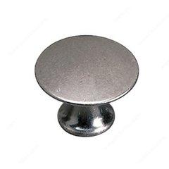 Povera 1 Inch Diameter Faux Iron Cabinet Knob <small>(#2445925904)</small>