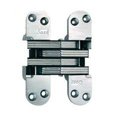 #220 Invisible Spring Closer Hinge Satin Nickel <small>(#220ICUS15)</small>