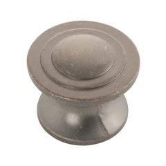 Deco 1-1/4 Inch Diameter Dark Antique Copper Cabinet Knob