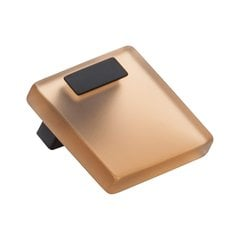 Quad Pull 5/8 inch Center to Center Transparent Light Brown with Matte Black