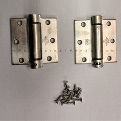 LB4390-350 Square Corner Single Act Spring Hinge-S. Steel