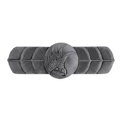 Tropical 3 Inch Center to Center Brilliant Pewter Cabinet Pull <small>(#NHP-326-BP-L)</small>