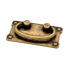 Mission 3 Inch Center to Center Antique Brass Cabinet Bail Pull