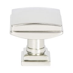 "Tailored Traditional Knob 1-1/4"" Dia Polished Nickel"