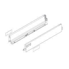 Tandembox M- 26 inch Drawer Profile L/R Stainless Steel <small>(#378M6502IA)</small>