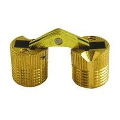 Solid Brass Barrel Hinge 18mm