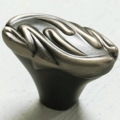 Arcadia Forged Solid Brass 1-3/4 Inch Length Antique Nickel Cabinet Knob <small>(#831-AN)</small>