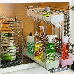 Kessebohmer Three Basket Storage Unit Pullout Chrome 545.48.262