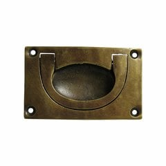 Bin Pulls 2-3/4 Inch Center to Center Unlacquered Antique Brass Recess Pull