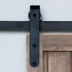 Designer Barn Door Rolling Hardware Smooth Iron <small>(#BH5BI)</small>