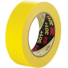 3M Scotch Masking Tape 301+ 3/4 inch x 60 yd Yellow