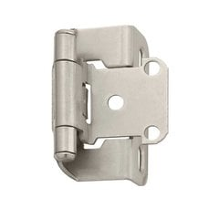 "Partial Wrap 1/2"" Overlay Hinge Satin Nickel - Per Pair"