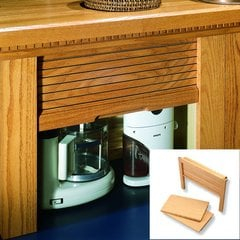 18 inch Straight Appliance Garage - Hickory <small>(#AG-100SSH-18)</small>