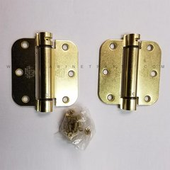 LB4312-350 5/8 inch Radius Corner Single Act Spring Hinge-Brass