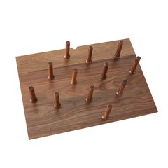 Medium Walnut Drawer Peg System (12 Pegs)