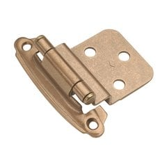 "3/8"" Inset Surface Mt. Hinge Pair Satin Bronze Self Close <small>(#P243-SBZ)</small>"