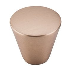 Nouveau 1-1/16 Inch Diameter Brushed Bronze Cabinet Knob <small>(#M1677)</small>