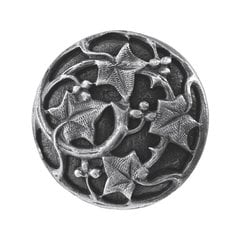 Leaves 1-1/8 Inch Diameter Antique Pewter Cabinet Knob