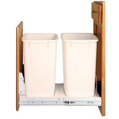 Double Trash Pullout 36 Quart-White