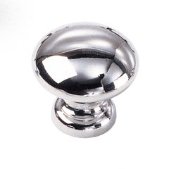 Solid Brass 1-3/8 Inch Diameter Polished Chrome Cabinet Knob <small>(#40726)</small>