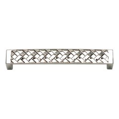 Lattice 5-1/16 Inch Center to Center Polished Nickel Cabinet Pull