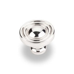 Bella 1-3/8 Inch Diameter Polished Nickel Cabinet Knob