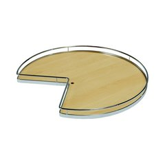 Super Susan Pie Cut Lazy Susan Set 28 inch Maple/Chrome