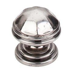Britannia 1-1/4 Inch Diameter Pewter Antique Cabinet Knob <small>(#M22)</small>
