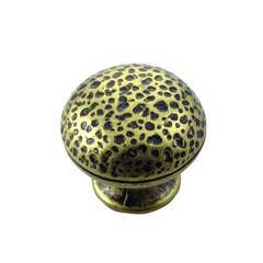 mng hardware hammered 114 inch diameter distressed brass cabinet knob