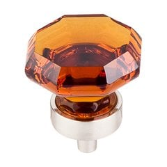 Crystal 1-3/8 Inch Diameter Wine Crystal Cabinet Knob <small>(#TK138BSN)</small>