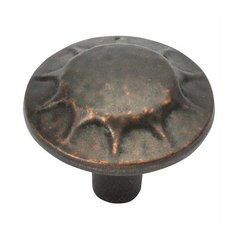 Clover Creek 1-1/4 Inch Diameter Dark Antique Copper Cabinet Knob