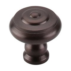 Normandy 1-1/8 Inch Diameter Oil Rubbed Bronze Cabinet Knob <small>(#M769)</small>