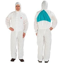 3M 4520 Large Size Protective Coveralls White