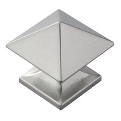 Studio 1-1/4 Inch Diameter Satin Nickel Cabinet Knob
