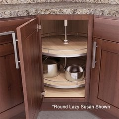 Recorner Susan Kidney Lazy Susan 28 inch Maple