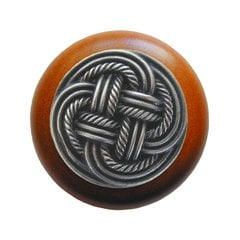 Classic 1-1/2 Inch Diameter Antique Pewter Cabinet Knob <small>(#NHW-739C-AP)</small>