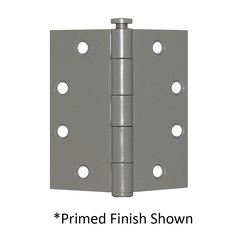 "Full Mortise Plain Bearing Hinge 4-1/2"" X 4-1/2"" Primed"