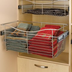 "Pullout Wire Basket 24"" W X 14"" D X 11"" H <small>(#CB-241411SN-5)</small>"