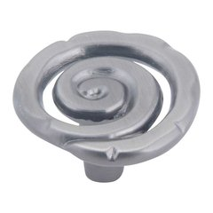 Scroll 1-1/2 Inch Diameter Pewter Cabinet Knob