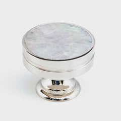 Mother of Pearl 1-3/8 Inch Diameter Polished Nickel/Mother of Pearl Cabinet Knob
